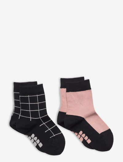 2-PAIR SOCK - sokken - misty pink