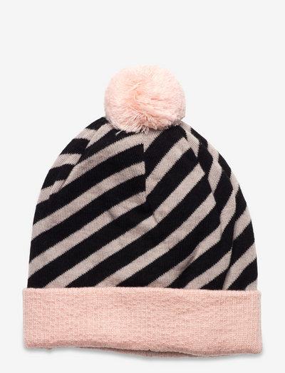 STRIPE BEANIE - beanie - misty pink