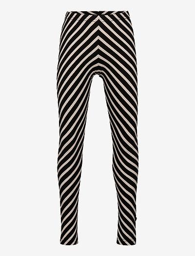 STRIPE LEGGINGS KID - leggings - black, sand
