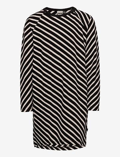 STRIPE TUNIC KID - jurken & rokjes - black, sand