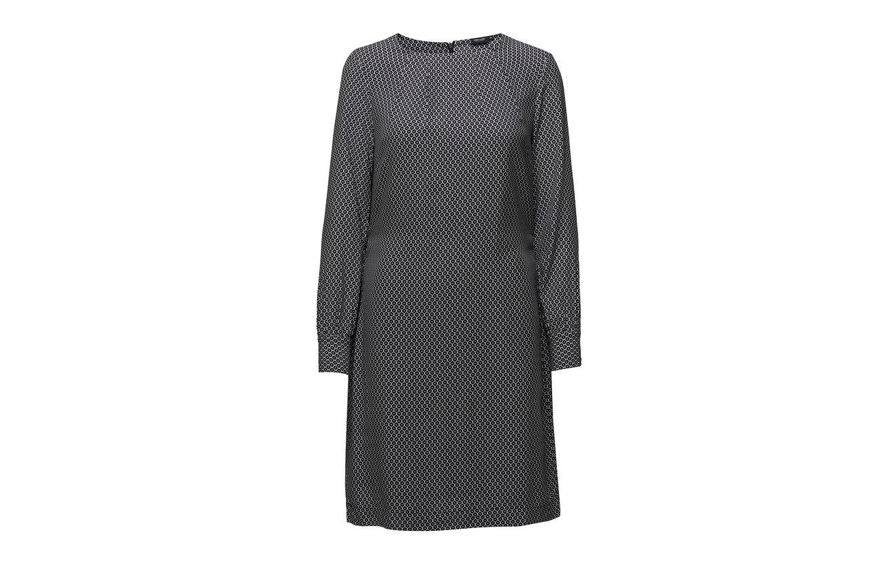 Print Viscose 100 Navy Park Lane Dress nIxRqx5T