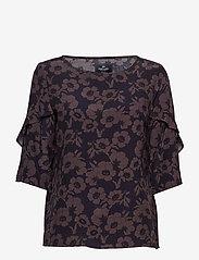 Park Lane - Blouse - blouses à manches courtes - navy flower - 0