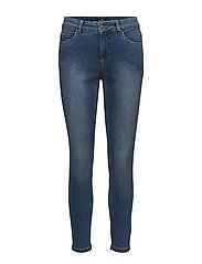 Hayley cropped superstretch - MEDIUM INDIGO WASH
