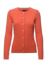 Cable cardigan - 419 CORAL