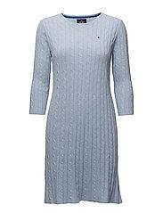 Cable dress - 307 LIGHT BLUE