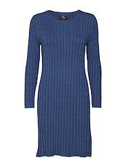 Cable dress - DENIMBLUE