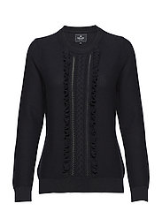 Pullover ruffle - NAVY