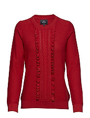 Pullover ruffle - RED