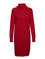 Dress with big collar - RED