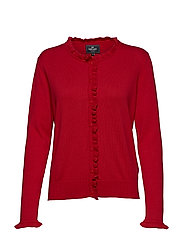 Cardigan ruffle - RED