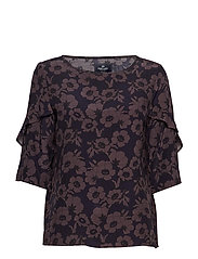 Blouse - NAVY FLOWER