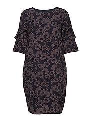 Dress - NAVY FLOWER