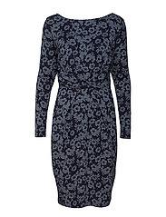 Dress l/s - NAVY FLOWER