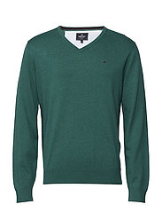 Basic pullover V-neck - GREEN