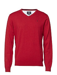 Basic pullover V-neck - RED