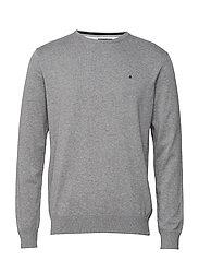 Basic pullover R-neck - MIDGREY