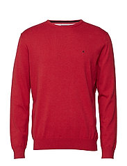Basic pullover R-neck - RED