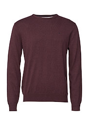 Basic pullover R-neck - WINERED