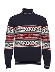 Rollneck Fairisle - NAVY