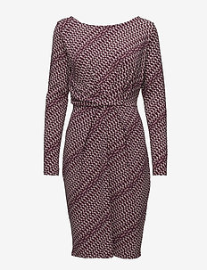 Dress draped printed - PATTERN