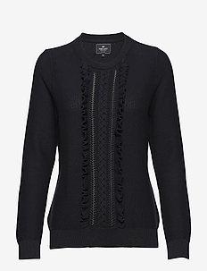 Pullover ruffle - tröjor - navy