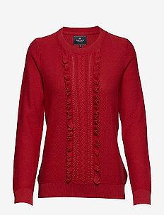 Pullover ruffle - tröjor - red