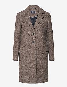 Boucle Coat - ullkappor - mole