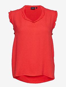 Top, sleeveless - RED