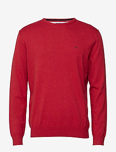 Basic pullover R-neck - basic-strickmode - red