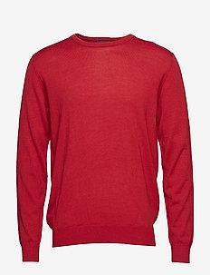 Pullover r-neck merino - RED