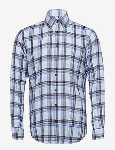 Shirt l/s - karierte hemden - lightblue