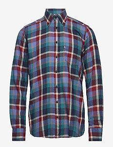 Shirt l/s - karierte hemden - denimblue