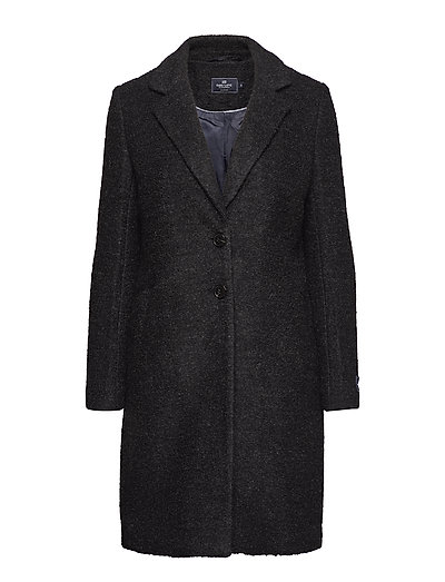 Boucle Coat - DARK GREY