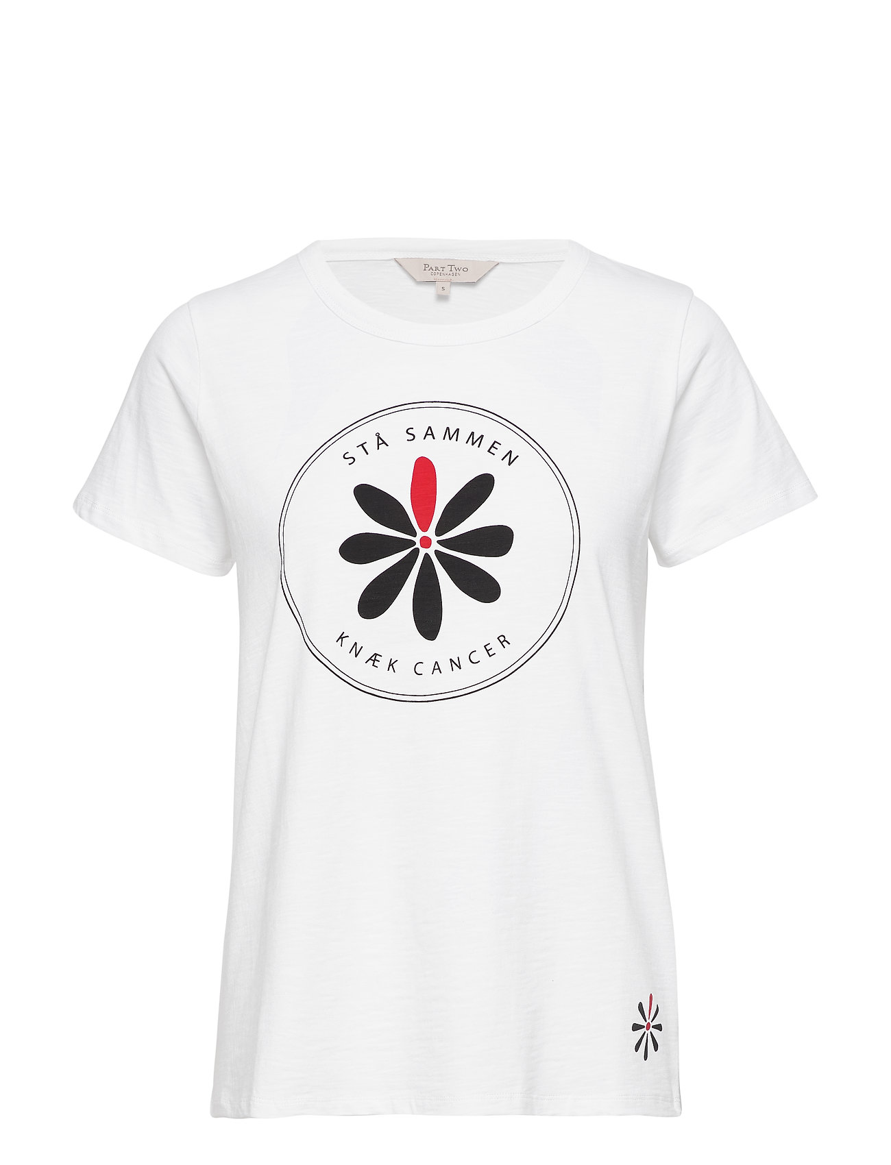 Part Two Knæk Cancer Knæk Cancer T-shirt - WHITE