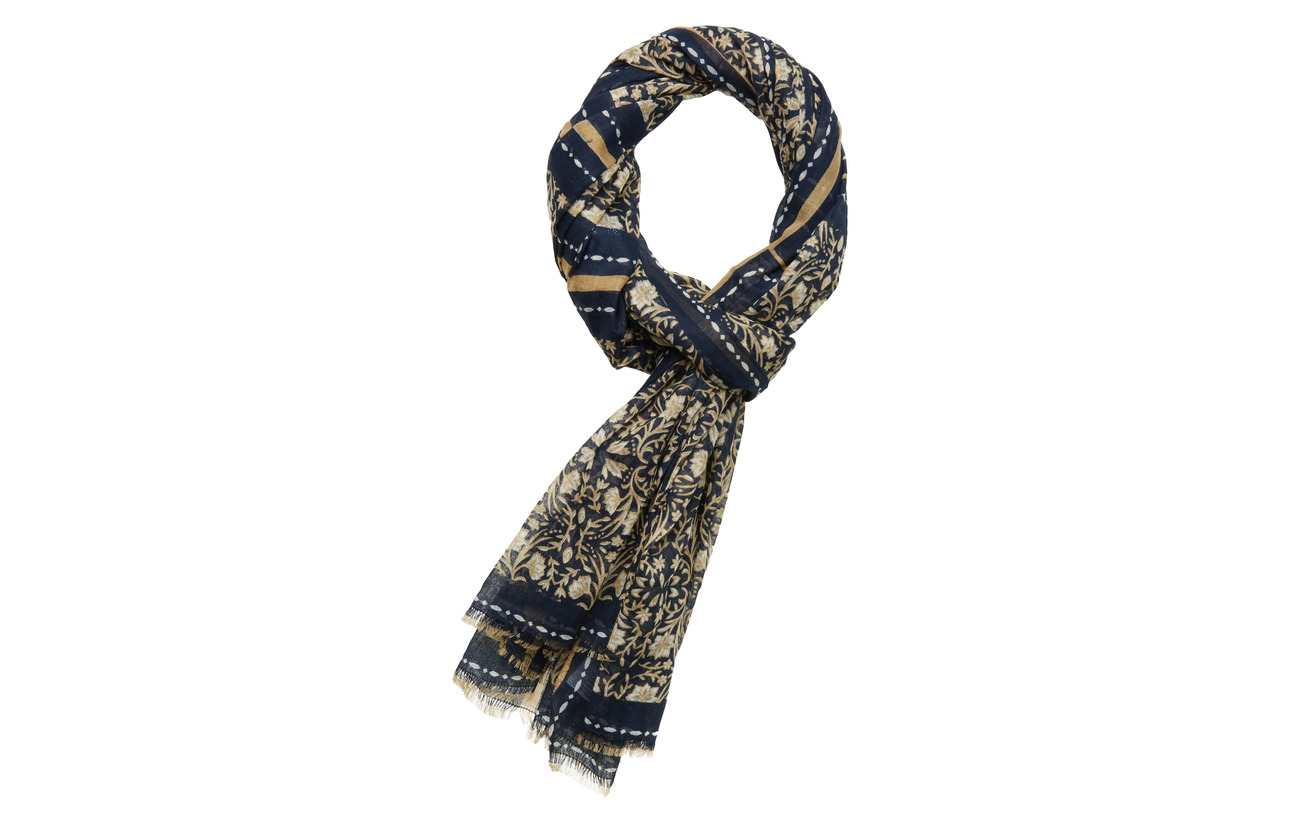 Part Two KirandaPW SC - SCARF PRINT DARK BLUE