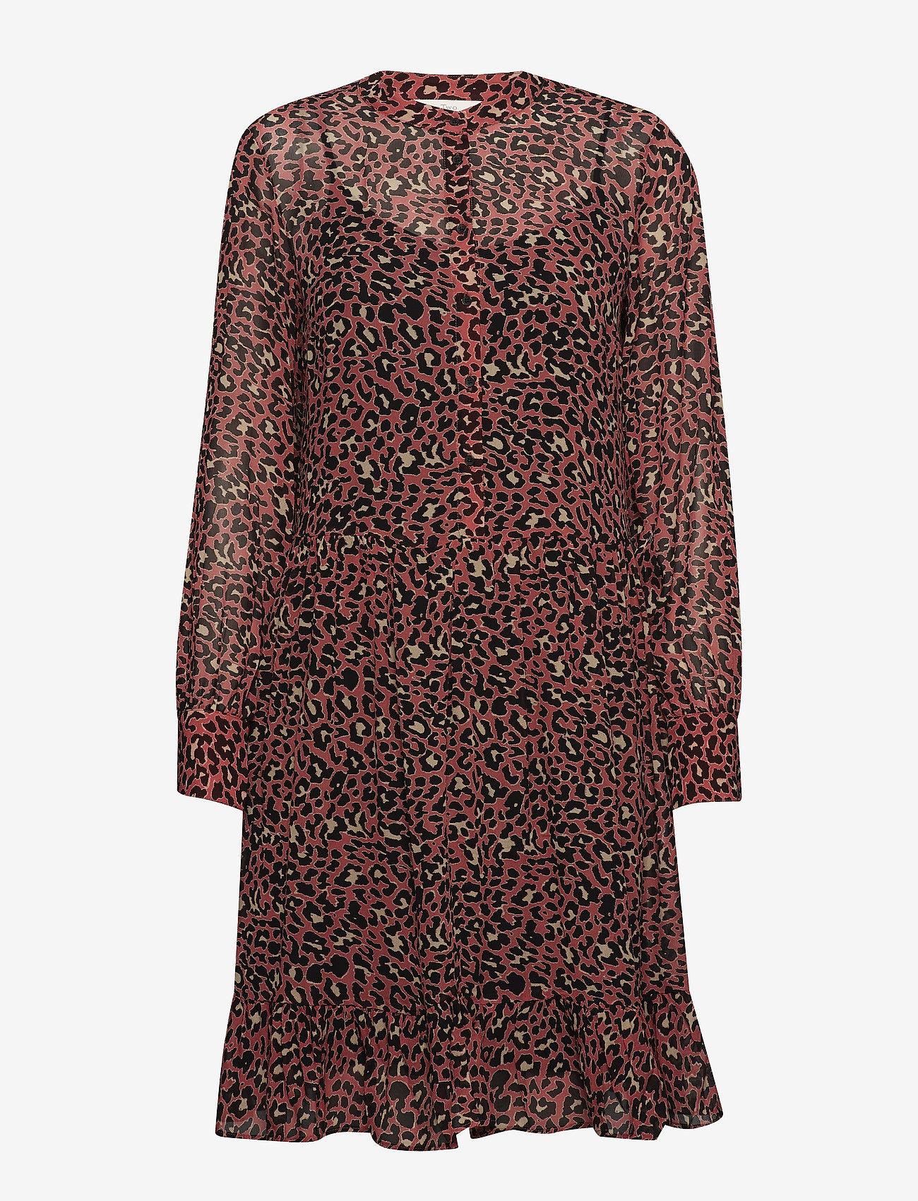 Part Two - Miriam DR - midi dresses - artwork medium pink