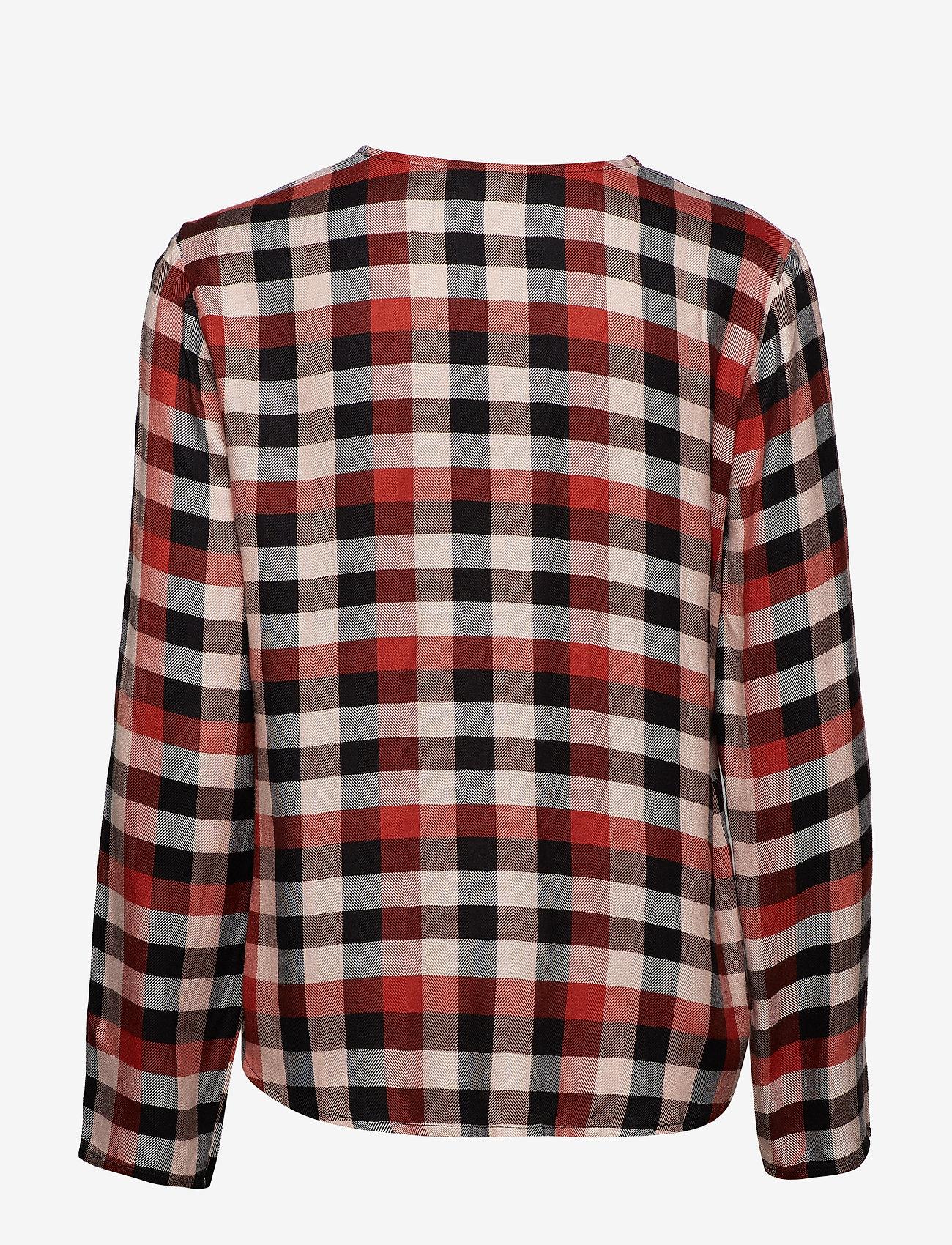 Part Two - Miata BL - long sleeved blouses - artwork dark orange
