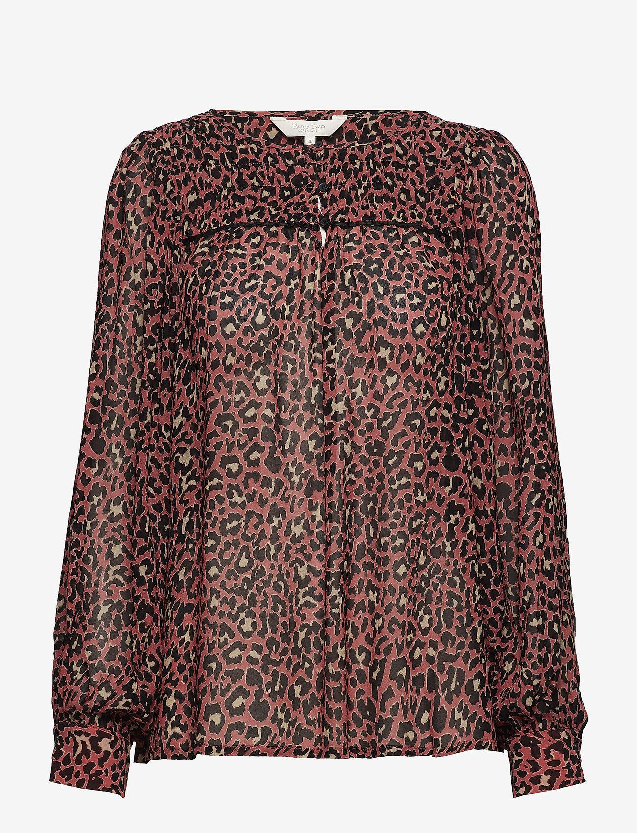 Part Two - Modesty BL - long sleeved blouses - artwork medium pink