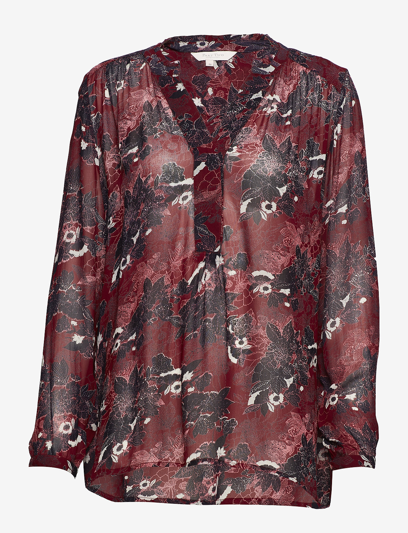 Part Two - Hella BL - long sleeved blouses - artwork dark red