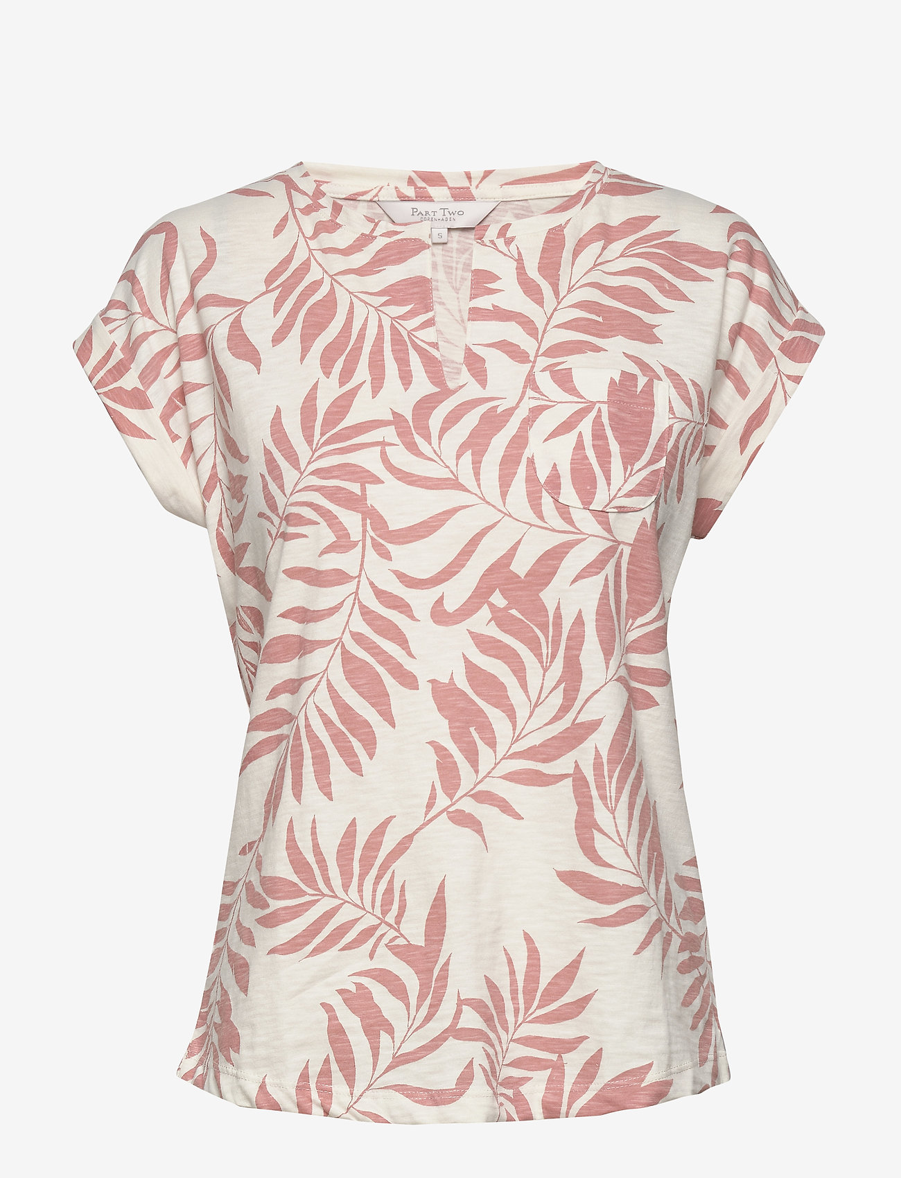 Part Two - KeditaPW TS - basic t-shirts - palm print, terra cotta
