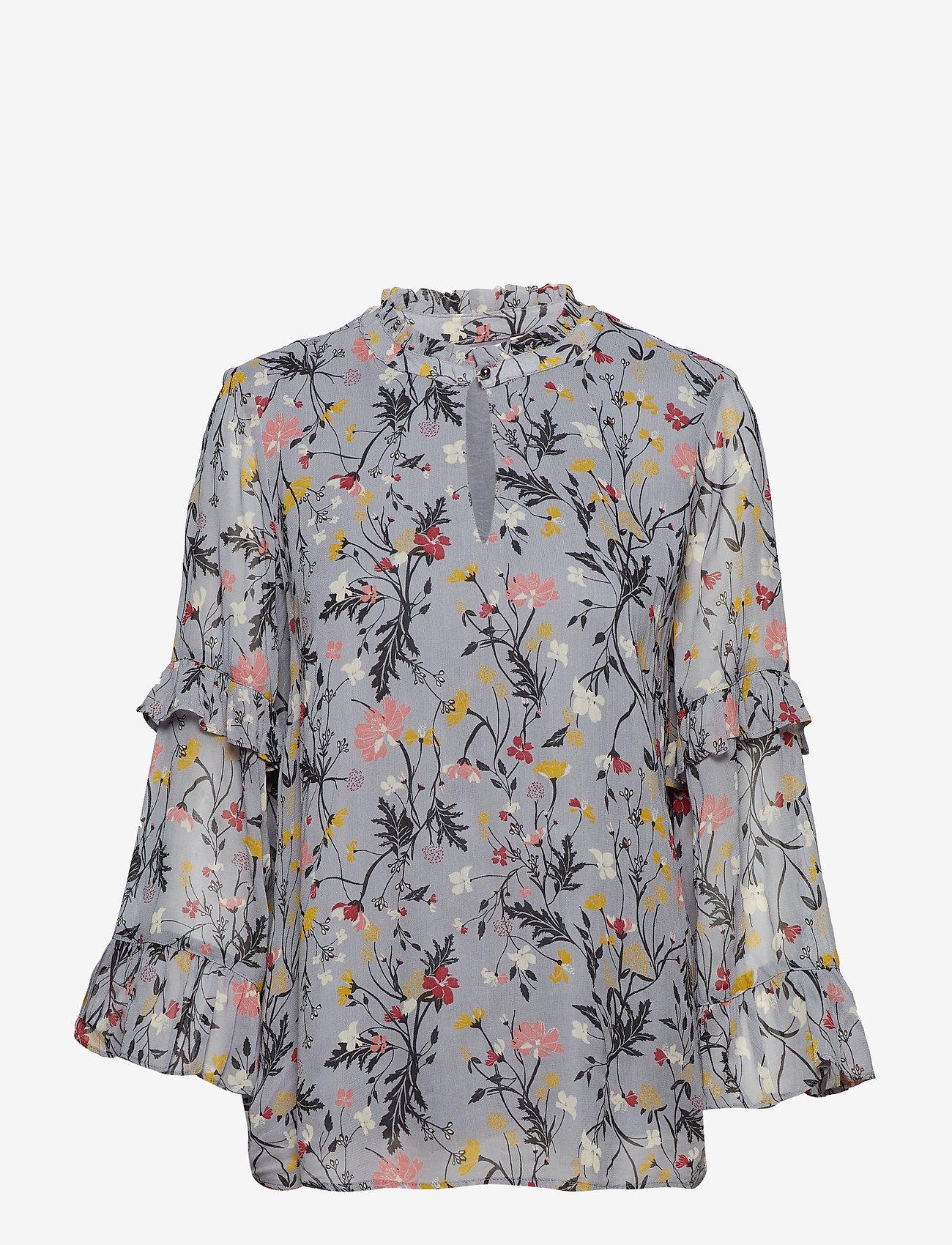 Part Two - Neimas BL - long sleeved blouses - artwork light blue