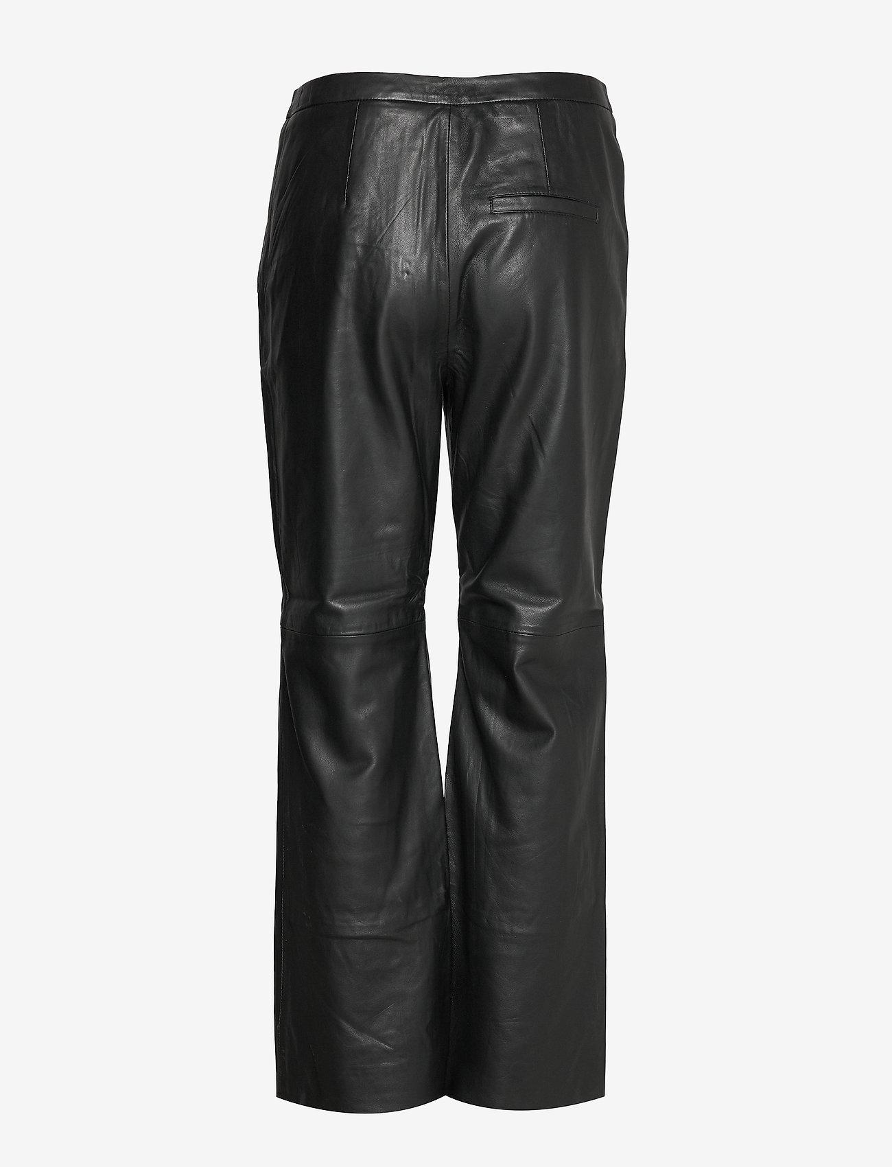 Part Two Marvella PA - Spodnie skórzane BLACK - Kobiety Odzież.