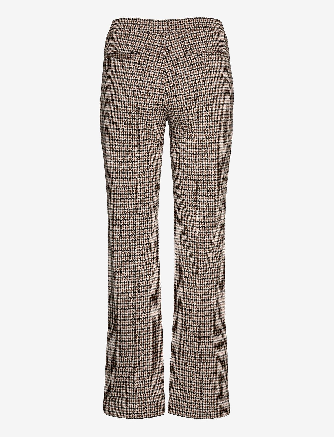 Part Two - PontasPW PA - pantalons droits - mini check, brown - 1