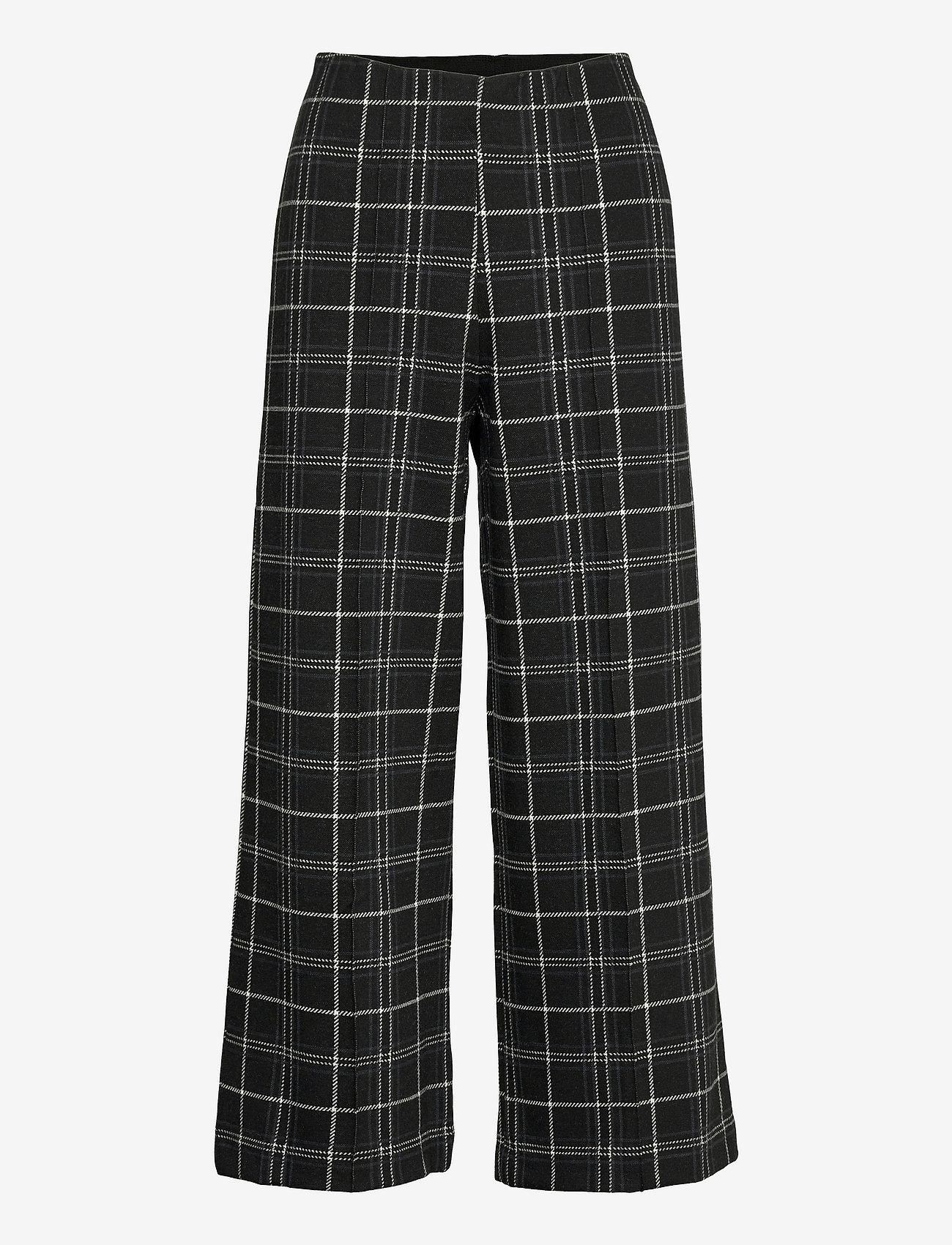 Part Two - IlisanPW PA - bukser med brede ben - black check - 1