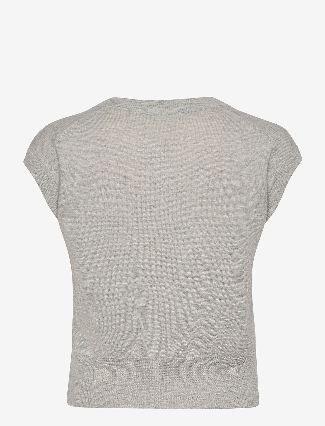 Part Two - VavaraPW PU - knitted vests - wet weather melange - 1