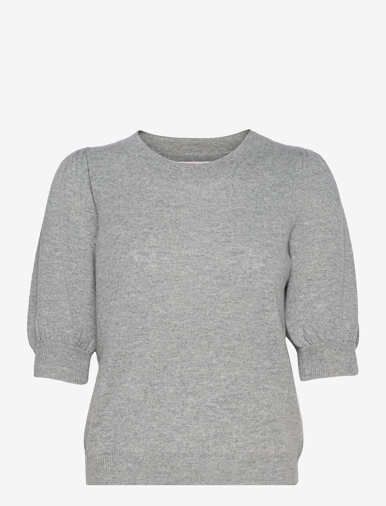 Part Two - ElinaPW PU - strikkede toppe - grey melange - 0