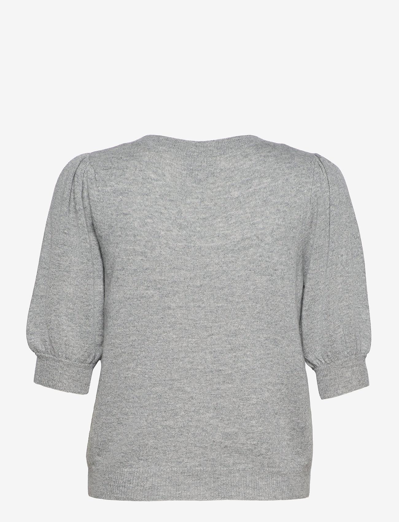 Part Two - ElinaPW PU - strikkede toppe - grey melange - 1