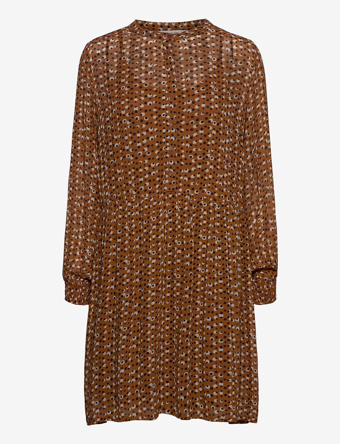 Part Two - TaniaPW DR - midi kjoler - dot print, hazel brown - 0