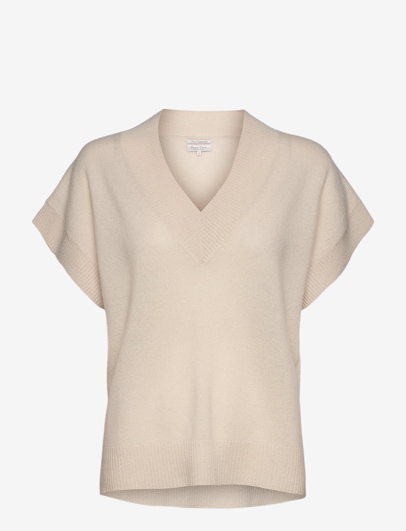 Part Two - HevinPW PU - gebreide t-shirts - whitecap gray - 0