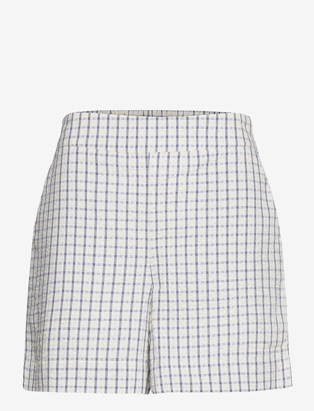 Part Two - IwonaPW SHO - casual shorts - gray blue check - 1